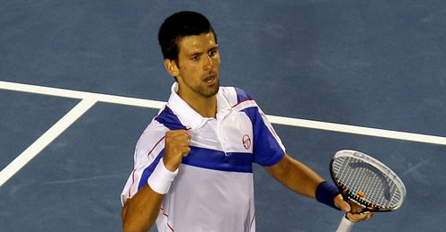 Novak Djokovic fist-pump