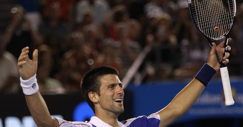 Novak Djokovic winning