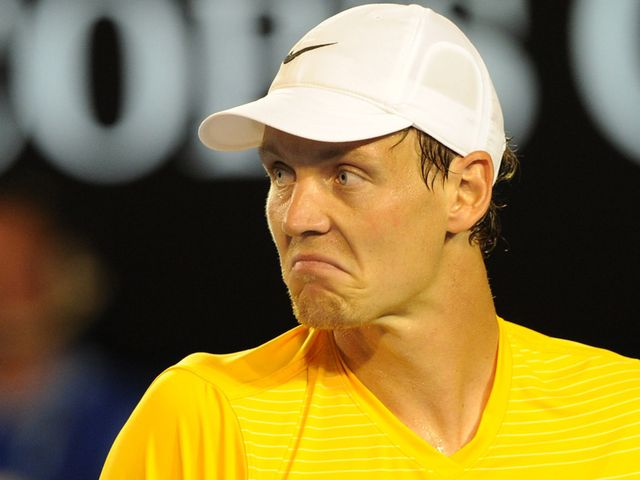 Tomas Berdych - can let his head go down.