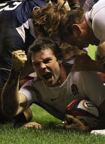 Ben Foden scores England France 6N 2011