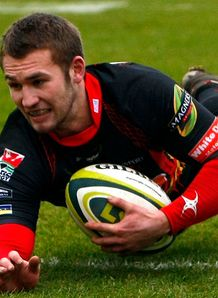 Dragons v Scarlets Martyn Thomas try