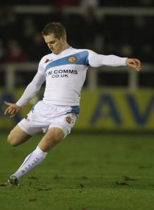 Gareth Steenson exeter white kicking
