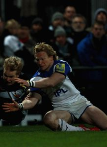 Jason Shoemark and Tom Biggs in Exeter against Bath