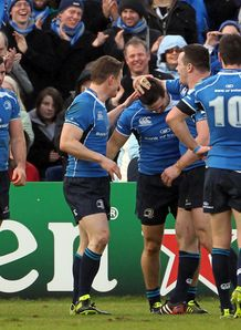 Leinster celeb Eoin OMalley v Saracens Heineken Cup