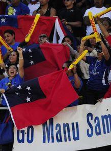 Samoa fans at Las Vegas Sevens