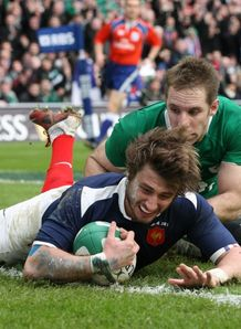 Six Nations Ireland v France Maxime Medard try