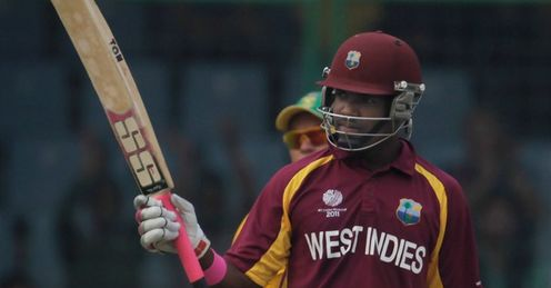 2011 Cricket World Cup Group B South Africa v West Indies Delhi Darren Bravo half century