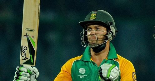2011 Cricket World Cup Group B South Africa v West Indies Delhi AB de Villiers half century