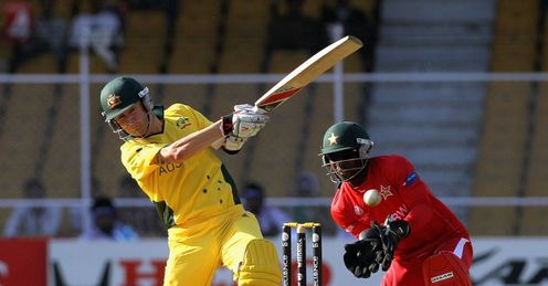 2011 World Cup Australia v Zimbabwe Group A Ahmedabad Michael Clarke batting