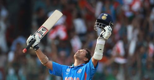2011 World Cup Group B India v England Bangalore Sachin Tendulkar century