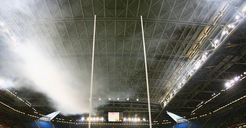 Sitting snug under the Millennium Stadium roof
