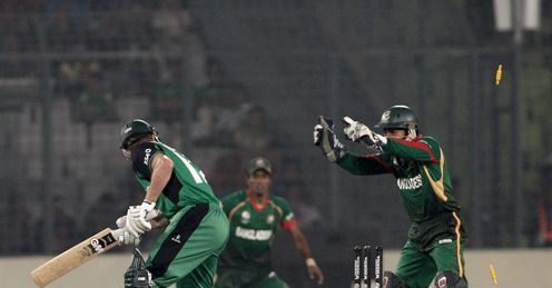 Paul Stirling stumped Bangladesh v Ireland World Cup