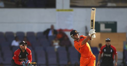 Ryan ten Doeschate Netherlands v England World Cup Nagpur Feb 2011