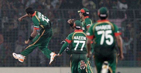 Shafiul Islam Bangladesh v Ireland World Cup Dhaka Feb 2011