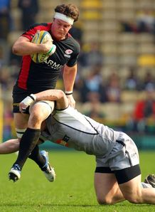 Andy Saull on a run for Saracens