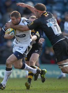 Ben Cohen being met by Joe Worsley