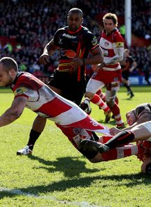 Charlie Sharples Gloucester v Newport-Gwent Dragons
