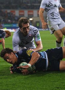 Chris Czeka try Cardiff Blues v Edinburgh  Heineken Cup