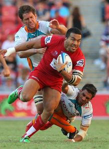 Digby Ioane break for Reds against Cheetahs