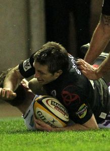 Edinburgh Jim Thompson try v ospreys