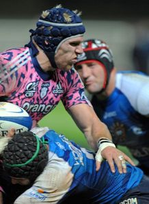 James Haskell taking contact for Stade Francais