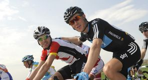 Serge Pauwels looked in relaxed mood alongside Philip Deignan early in the day
