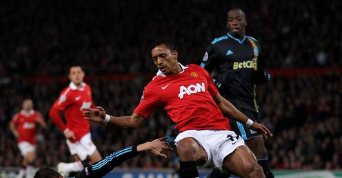 Football Champions League Man United Nani