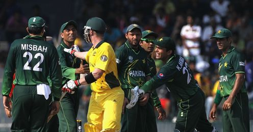 Brad Haddin Younus Khan exchange words Australia Pakistan