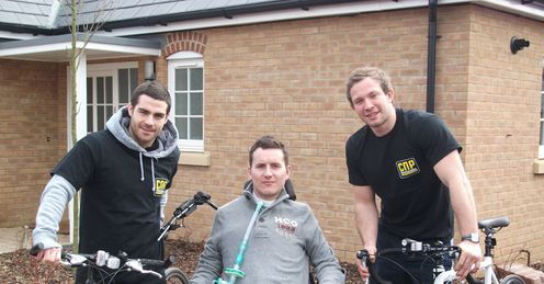 John Sullivan, Matt King and Jack Malin: raising money for charity