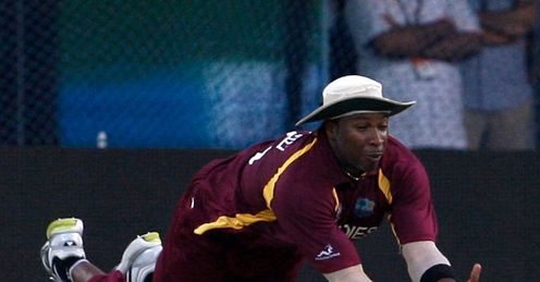 Kieron Pollard catch West Indies v India world cup