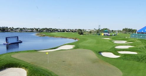The 18th hole at PGA National's Jack Nicklaus Championship Course
