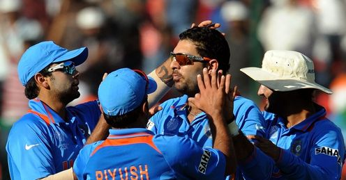 Yuvraj Singh India celebrate