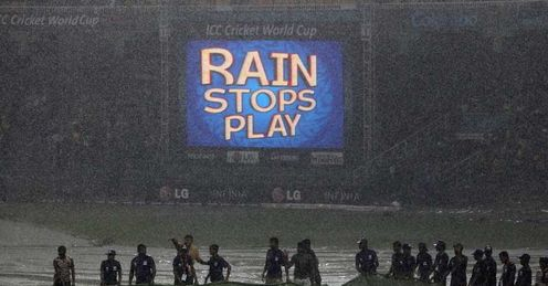 rain stops play Sri Lanka v Australia Colombo 2011 Cricket World Cup