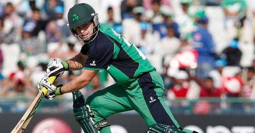 Ed Joyce Ireland batting against West Indies 2011 Cricket World Cup