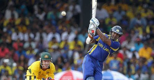 Kumar Sangakkara Sri Lanka batting against Australia Colombo 2011 World Cup