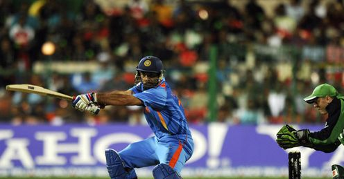 Yuvraj Singh India v Ireland World Cup Group B Bangalore Mar 2011