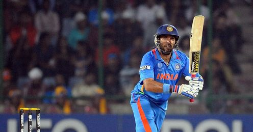 Yuvraj Singh India v Netherlands World Cup Group B Feroz Shah Kotla Delhi Mar 2011