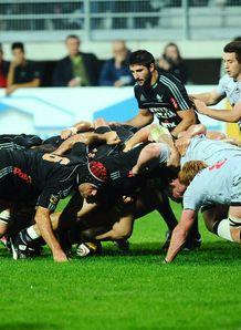 Aironi Rugby v Edinburgh  Magners League scrum
