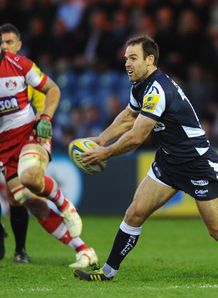 Charlie Hodgson in action for Sale against Gloucester