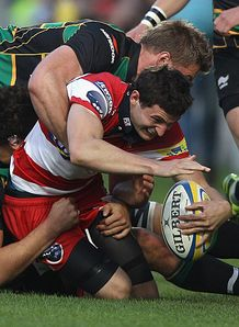 Gloucester v Northampton Jonny May No Try