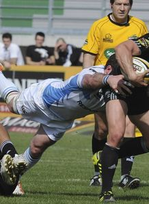 Tito Tebaldi in action for Aironi against Glasgow