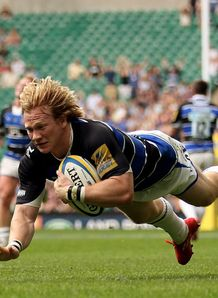 Tom Biggs hatr trick Bath v Wasps twickeham 2011