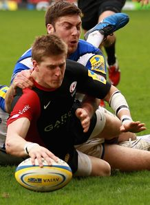 saracens david strettle try 2011