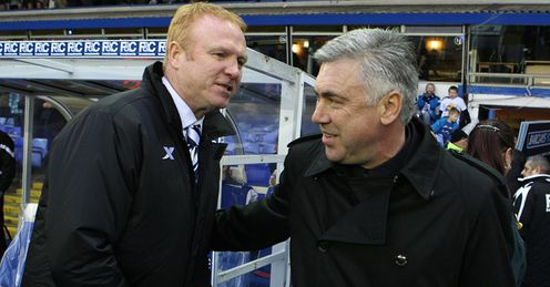 McLeish and Ancelotti: both have big games this weekend