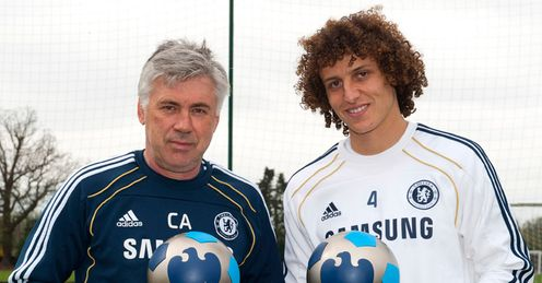 Barclays PMOTM March 11 Carlo Ancelotti David Luiz