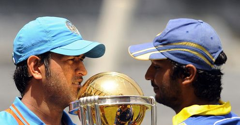 Trophy tussle: neither Dhoni nor Sangakkara will take a backward step in Saturday's final