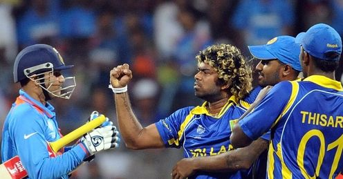 Lasith Malinga Sehwag wicket India v Sri Lanka world cup final