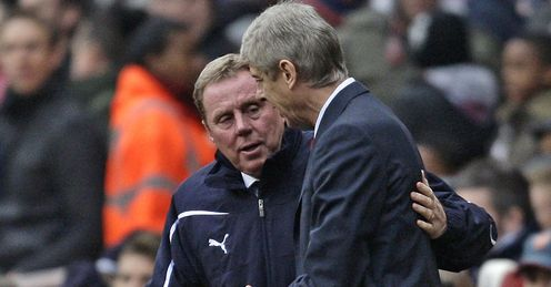 Redknapp & Wenger: will they share the spoils?
