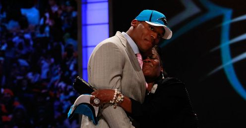 Carolina's first overall pick last year was quarterback Cam Newton