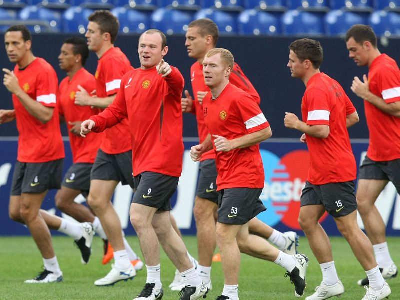 Man Utd training